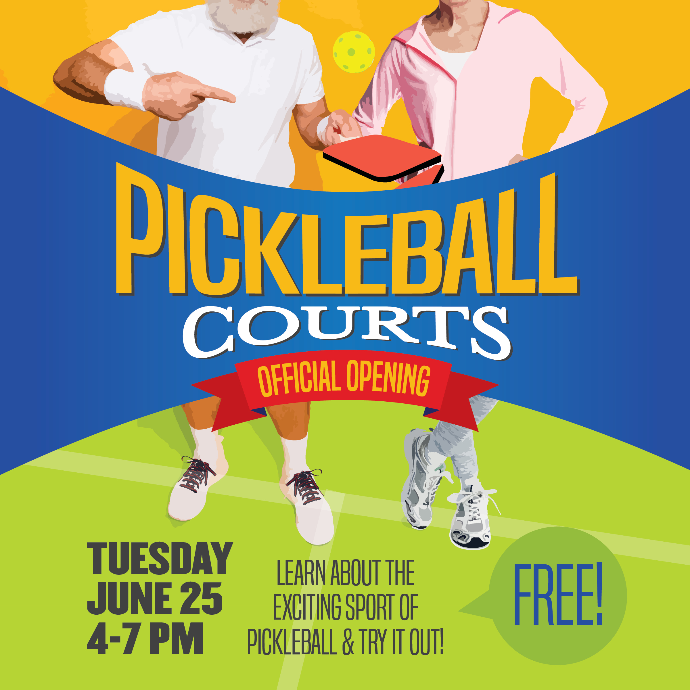 Pickleball Courts Official Opening