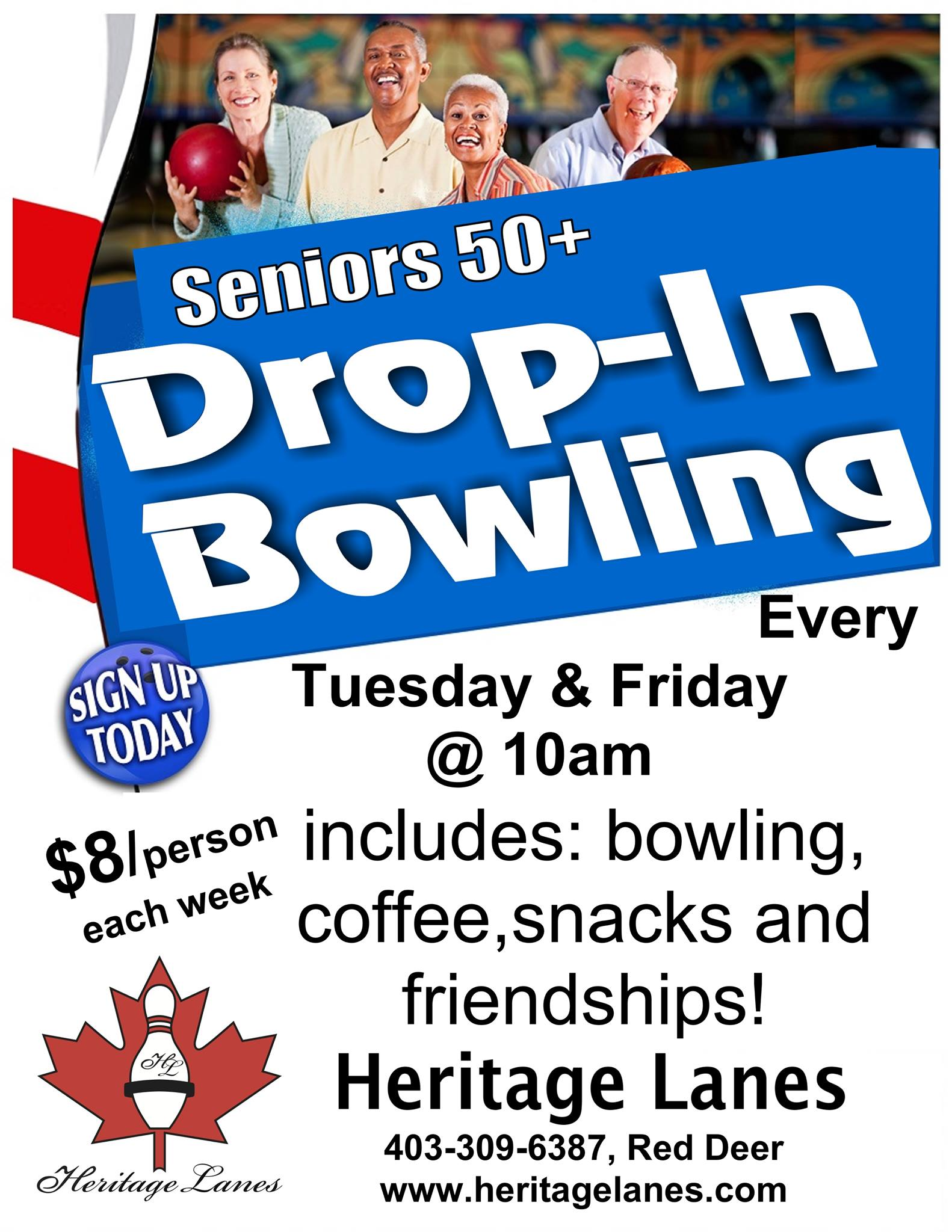 Senior Drop In Bowling