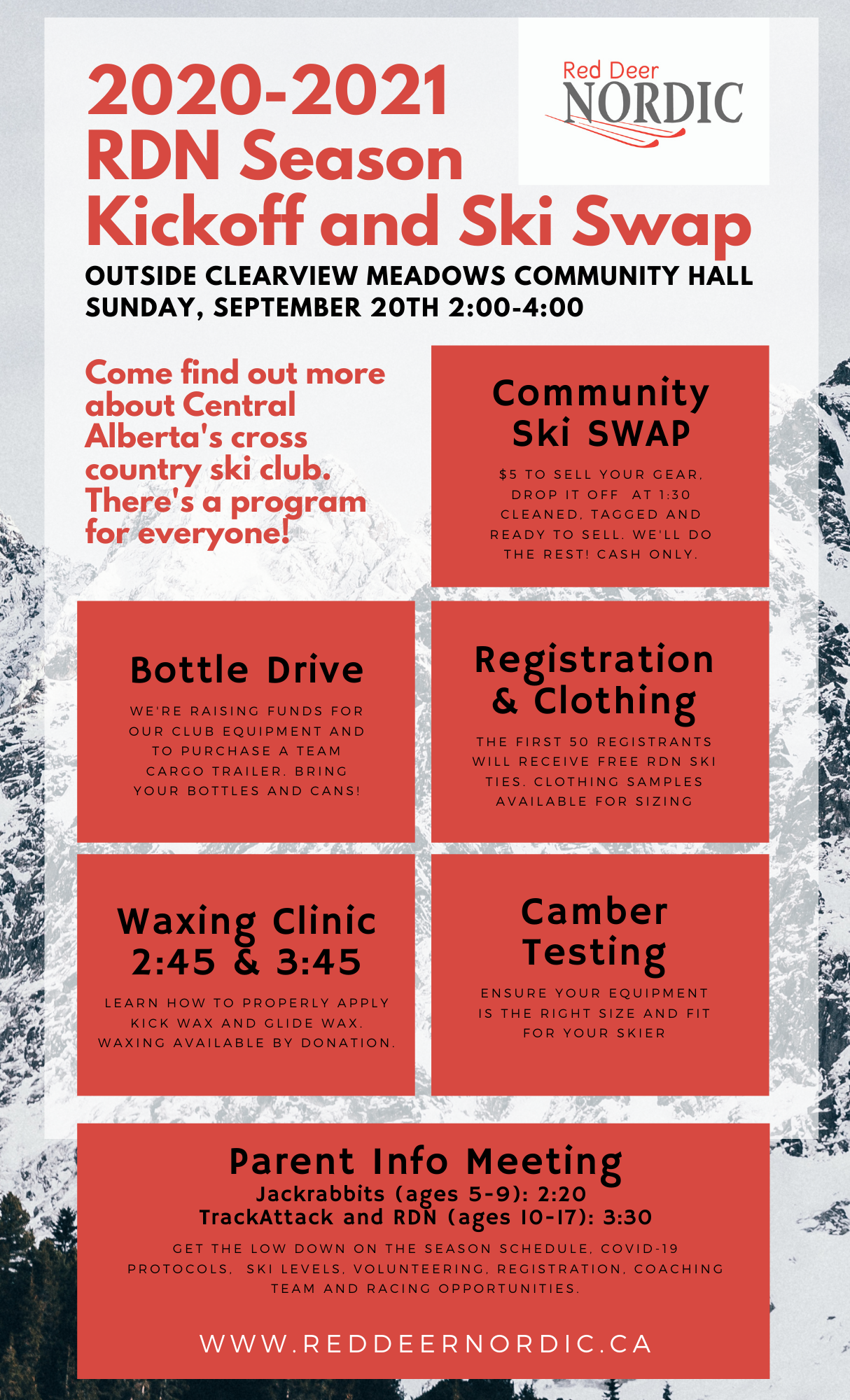 Red Deer Nordic Community Ski Swap and Kickoff