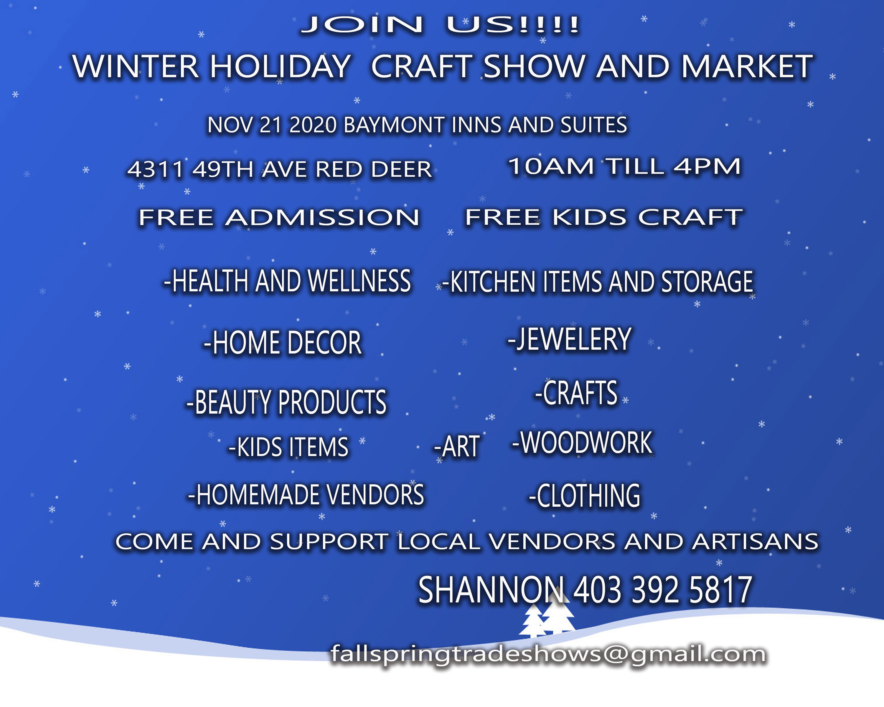 Winter Holiday Craft Show and Market
